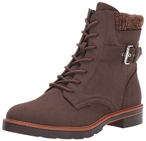 Tommy Hilfiger Women's Morten Combat Boot, Chocolate, 7.5