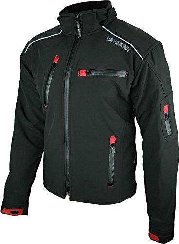 Heyberry Soft Shell Motorradjacke Textil Schwarz Gr. L - 3