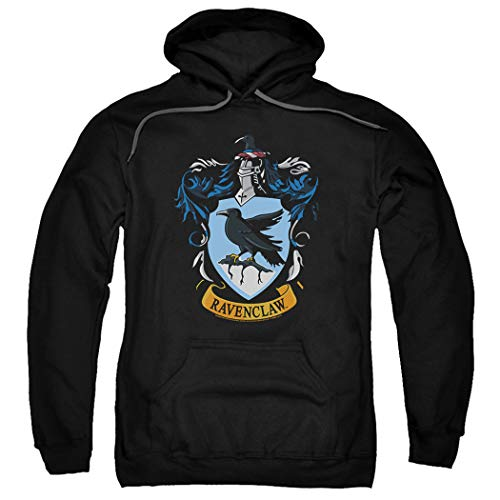 Popfunk Harry Potter Ravenclaw Logo Pull-Over Hoodie Sweatshirt & Stickers (XX-Large)