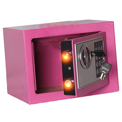 Tarro de Ahorro de Dinero Hucha de Papel Creativa Hucha de Metal Espesado Hucha Rosa Inteligente (Moneda Dinero) Hucha de Goma/Hucha