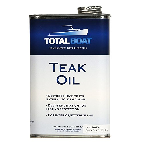 TotalBoat Teak Oil | 32 Ounces | Marine Grade Sealer Protects & Preserves Teak | Ideal for Boats and Outdoor Furniture