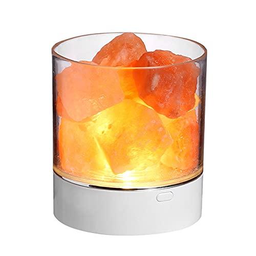 Lámpara de sal del Himalaya USB lámpara de noche ajustable color brillo lámpara de sal como regalo para decoración de habitación o dormitorio ambiente