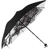 Mignon Parapluie Pliable dessiné à la Main Poisson de Basse sous Impression Parapluie de Jardin Soleil Pas Cher Parapluie Compact Parapluie extérieur