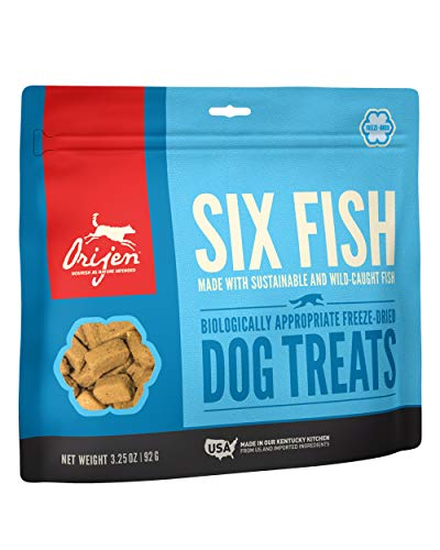 ORIJEN Freeze-Dried Dog Treats, Six Fish, Biologically Appropriate & Grain Free