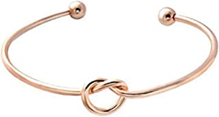 2019 Women's DIY Bangle Simple Design Adjustable Open Ladies Knotted Bracelet for Girl Daily Matching Jewelry Accessories by FAVOT (Rose Gold)