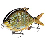 Bassdash SwimPomfret Hard Swimbaits with Built-in Steel Balls 3.9in 1.3oz...
