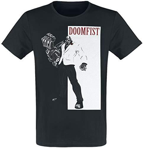 Overwatch Original Gangster Hombre Camiseta Negro S, 100% algodón, Regular