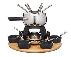 Idea Regalo - Artesa Kitchen Craft Master Class Acciaio Inossidabile 6-Person Partito fonduta Set