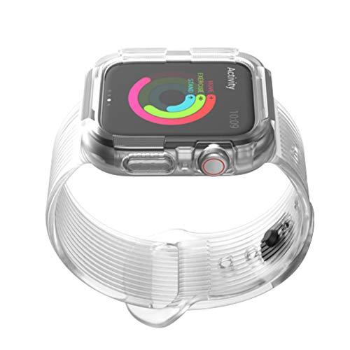 Estuche + correa para Apple watch band 44 mm 40mm iWatch band 44 mm 40mm Funda protectora de silicona + pulsera Apple watch 5 4 Accesorios