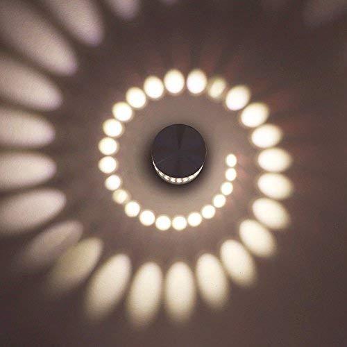 ETiME LED Effektleuchte Wandleuchte Wamweiss Flurlampe 3W Wandlampe Wandlicht Sonne Streulichtdesign (3W Warmweiß)