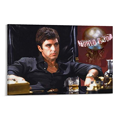 SEMN Poster artistico da parete con scarface Painting The World is Yours (50 x 75 cm)
