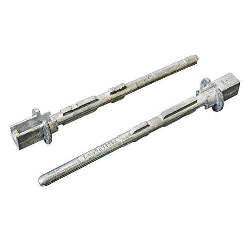 2x Pernos metal lápiz para manija de puerta corredera