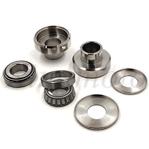 NBX- Replacement of Chrome Neck Cups Cup Set Timken Bearings Kit For Compatible with Harley Chopper Bobber Custom 12253