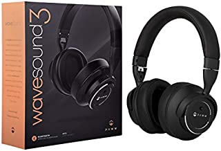 Paww WaveSound 3 Bluetooth Headphones – Active Noise Cancelling Headphones / 16-Hour Battery Life with Precision-Engineered Sound / Foldable Travel Headphones & Over-Ear Headphones (Black)