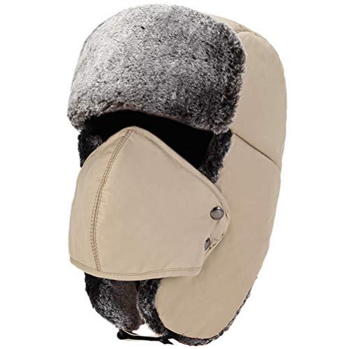 HEHGU Winter Warm Hat lei feng Cap Outdoor Ear Cap Hat Windproof for Men Women