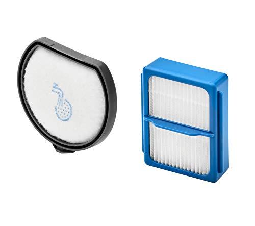 AEG ASKQX9 Filterset für QX9 (Doppelpack, 1 Vormotorfilter, 1 Hygienefilter, Staubsauger Filter, waschbar, regelmäßiger Filtertausch, verbesserte Saugleistung, passgenau) schwarz