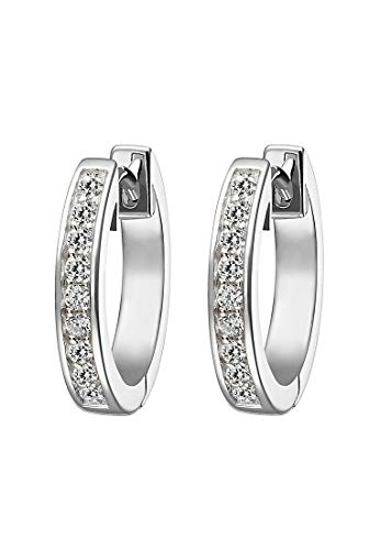JETTE Silver Damen-Ohrstecker 925er Silber 18 Zirkonia One Size 87485251