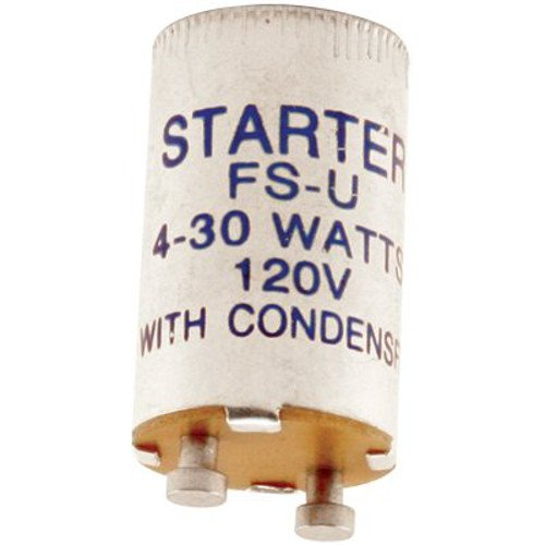 Price comparison product image Norman Lamps FS-U Universal Flurescent Starter,  4W-30W,  120 Volts (Pack of 10)