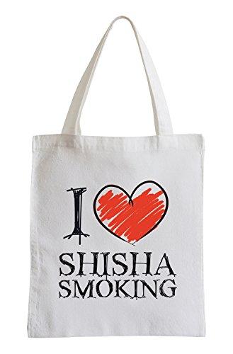 I love Shisha Smoking Fun Jutebeutel