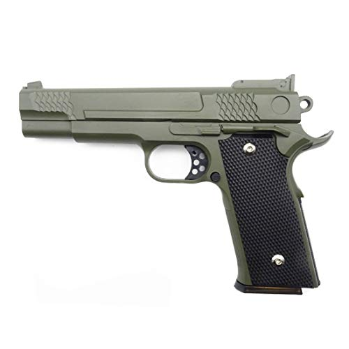 Airsoft Pistole Softair Rayline G20G Voll Metall (Manuell Federdruck), Maßstab 1:1, Gewicht 660g, Länge 19,5 cm, Tan, unter 0,5 Joule, ab 14 Jahre