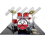 Mini Drum Kit The Wall Pink Floyd Hammers March Tribute Miniature Rock 25 cm Model Escaleras 1:4 Collectible Box Set batería modelo de colección