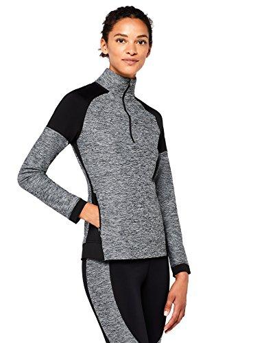 AURIQUE Damen Sportpullover mit Stehkragen, Gr. Small, Grau (Charcoal Marl)