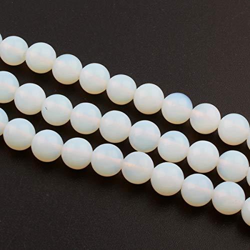 MONDSTEINE 10mm Perlen Edelstein Halbedelstein Kugel Schmuckstein für DIY Armband Kette Basteln AZD90B