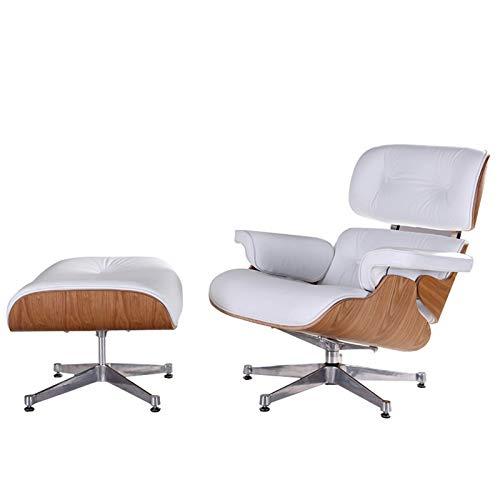 KKLL La Moda de Cuero reclinable Europea Sofá reclinable Silla giratoria Sofá Convertible
