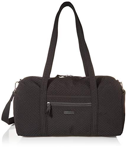 Vera Bradley Microfiber Medium Travel Duffle Bag, Classic Black