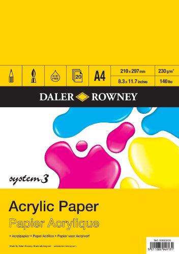 Daler-Rowney System 3Acryl-Block, A4-Format.