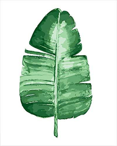 GEGEMEI schilderen op nummer plant linnen zeildoek, DIY olieverfschilderij geschenken DIY handgeschilderd olieverfschilderij op canvas cadeau 16 * 20 inch