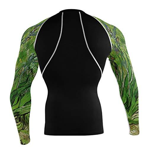Fantazio Van Gogh Iris T-shirt à manches longues pour vélo de montagne et vélo de route - - XXL