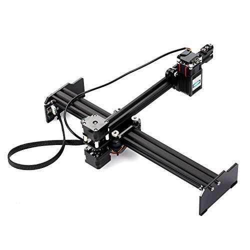 Láser de Máquina de grabado de 20 W DIY Impresora de escritorio de alta velocidad Impresora portátil para el hogar Arte de bricolaje Cortador de grabado para Metal madera Plástico Bambú Caucho Cuero