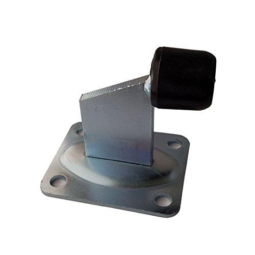 SO-TOOLS® Torstopper Höhe 100 mm verzinkt mit Ankerplatte 100 x 80 mm Türstopper für Rolltore und schwere Türen