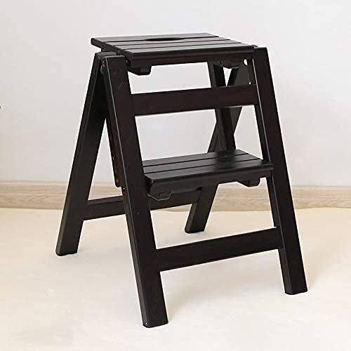 CNZXCO Kitchen Step Stool Solid La Wood Max 81% OFF Stepladders Folding Over item handling ☆