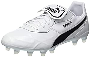 PUMA Unisex King TOP FG Football Boots, White Black White, 13 UK by PUMA