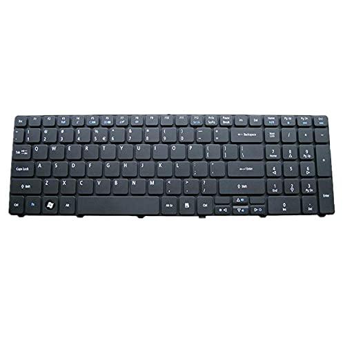 F-Mingnian-rsg Teclado de computadora portátil Compatible con Acer Compatible con Aspire 7720...