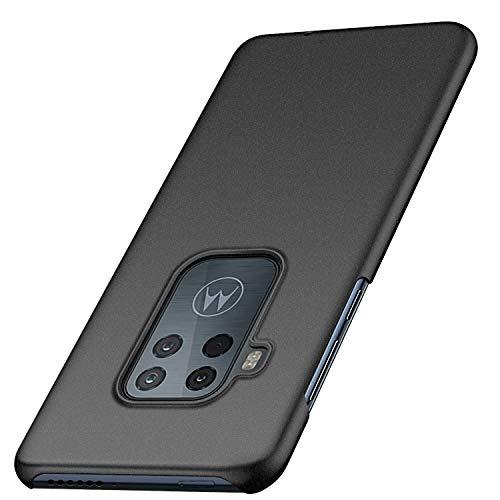 Anfootball Kompatibel für Motorola Moto One Zoom Hülle, Moto One Pro Hülle, [ultradünn] [Anti-Drop] Premium Material Slim Full Protection Cover für Moto One Zoom/One Pro, Gravel Black