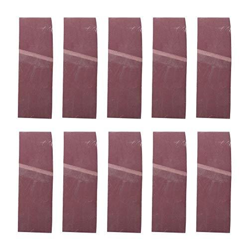 Courroies Abrasives 10pcs, Ponceuse à Bande Abrasive 610x100mm Bande de Ponçage à l Oxyde d Aluminium pour Quincaillerie de Meubles en Bois 180 240 320 400 600# (180#)