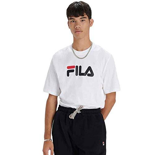 Fila Uomo T-Shirt con Logo Eagle, Bianca, XL