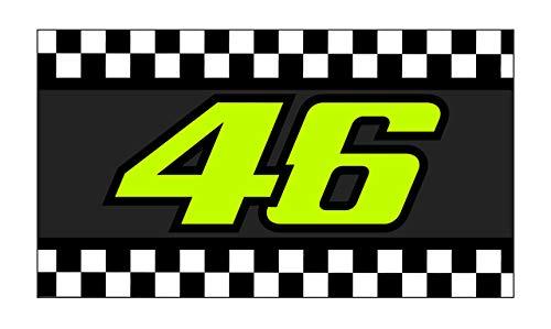 Valentino Rossi Race, Alfombra Unisex Adulto, Negro, Única