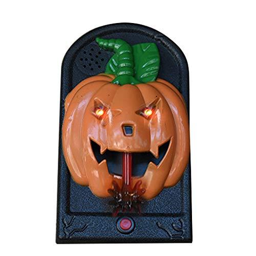 Viesky Halloween deurbel schedel oogbal deur decoraties spookachtige bar partij oplichten oogbal eng geluiden prop B