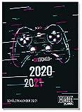 Häfft PLANER A5 2020/2021 [Gaming] Schülerkalender, Hausaufgabenheft, Schüler-Tagebuch, Schülerplaner mit spannendem Wissen, lustigen Sprüchen und coolen Stickern!