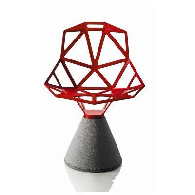 Magis Chair One Silla diseño Base de hormigón Asiento Rojo