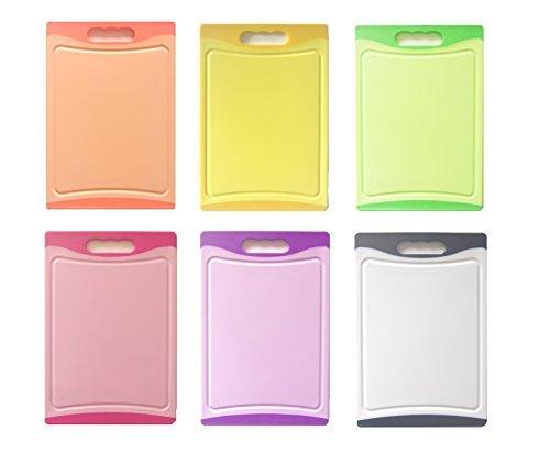 Schneidbrett SET 6 tlg. antibakteriell, 29 x 20 x 0,8 cm, beidseitig verwendbar, 6 Farben