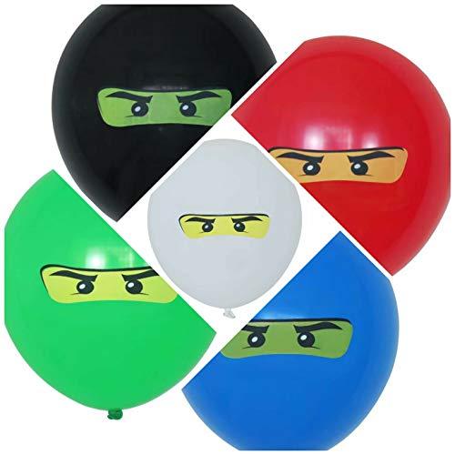 Ninja Ballons - extra groß 32cm -100% biologisch abbaubare Luftballons - made in Europe (10 Stück)