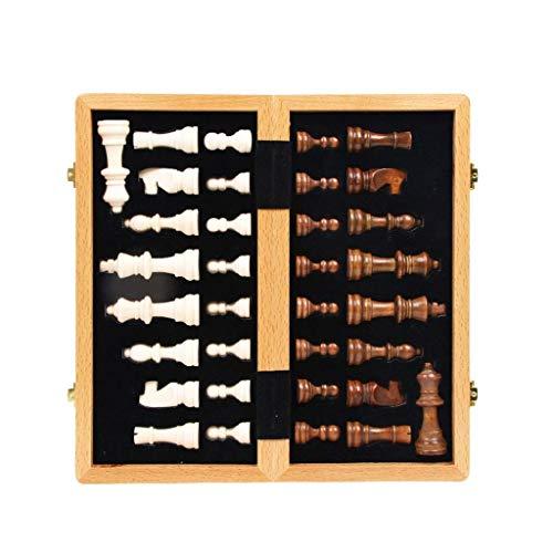YLJYJ Ajedrez, Tablero de ajedrez Juego de ajedrez de Madera Almacenamiento Interno Juego de ajedrez Internacional Regalo Tablero de ajedrez de Madera Plegable Chess Pi (Juego de ajedrez)