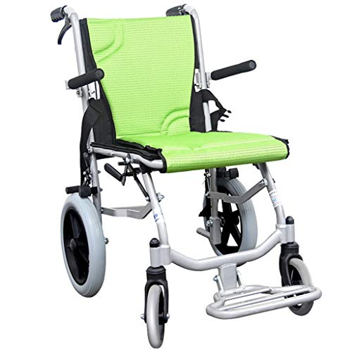 Walker Chair Wheelchair Sillas de ruedas autopropulsadas, profundidad del asiento de 42 cm, dispositivo de movilidad plegable for un transporte interior apretado y fácil almacenamiento, silla de rueda
