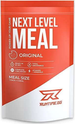 Runtime Next Level Meal - vollwertiger Mahlzeitersatz für langanhaltende Sättigung, Energie, Konzentration und Leistungsfähigkeit, mit Vitaminen und Nährstoffen, 1 Portion (150g) (Original)