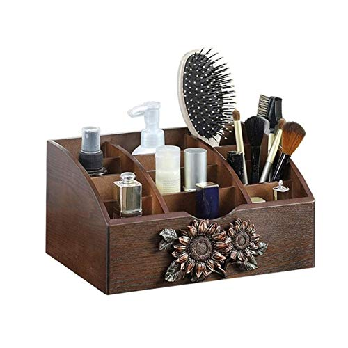 UNU_YAN Moderne Einfachheit aufbewahrungsbox - Retro-Holztisch-Organisator - dekorativer Bleistifthalter-Desk-Visitenkarten-Stift Mobile